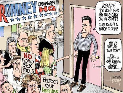 Romney's closet
