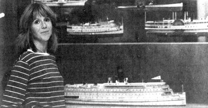 """Dr. Mary Ellen """"Mimi"""" Hayward worked at the Maryland Historical Society, where she was maritime curator and general history curator, from the early 1980s until 1996. She's pictured here in front of a maritime display in 1984."""