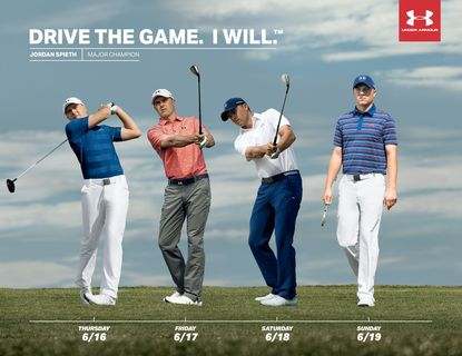 Jordan Spieth's outfits have been picked out for him.
