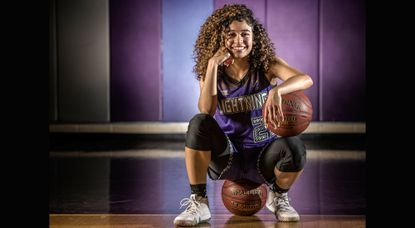 Long Reach senior Lyric Swann led the county with an average of 21 points per game this winter while helping the Lightning repeat as county and region champions. She has been named Howard County girls basketball Player of the Year for a second straight season.