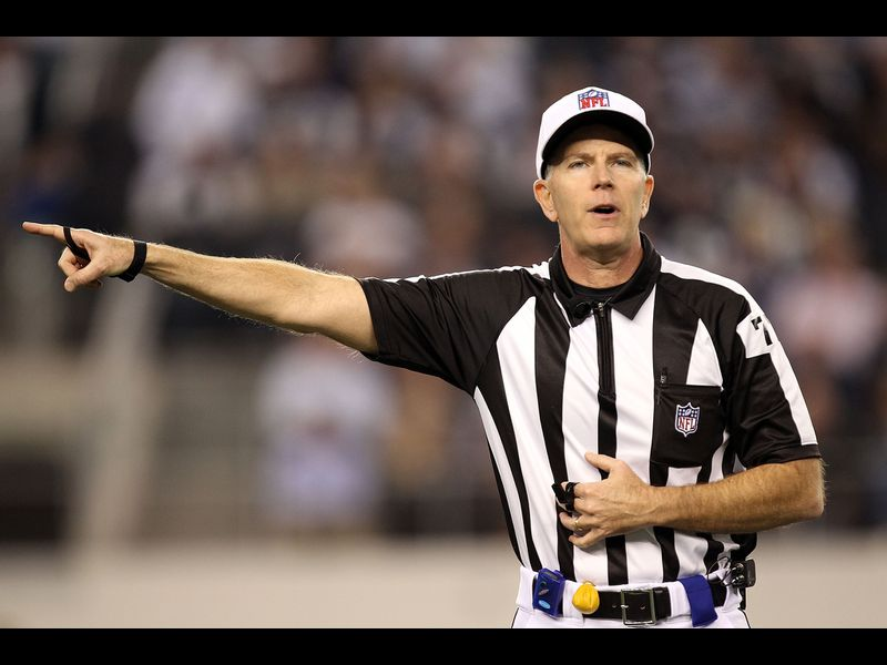 Super Bowl referee Terry McAulay whetted his whistle calling local