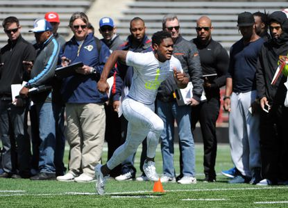 Maryland draft prospects audition for Bill Belichick, NFL scouts on blustery day