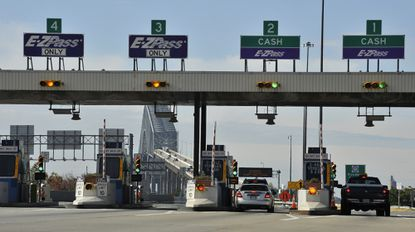 Baltimore, MD -- After two rounds of toll increases under Gov. Martin O'Malley, the Maryland Transportation Authority is meeting Thursday at the behest of Gov. Larry Hogan to consider a meause to reduce tolls on the state's roads, incuding the Francis Scott Key Bridge shown here. Lloyd Fox [Sun Photographer] #8308