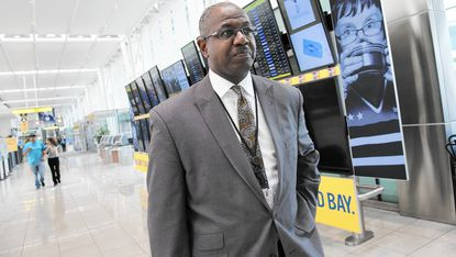 Ricky Smith, the new CEO at BWI Thurgood Marshall Airport, walks through the terminal that is the home to Southwest Airlines.
