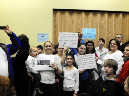 Dozens turned out to support the current elementary music program, and to raise concern about proposed changes at the Board of Education meeting Thursday, March 13.