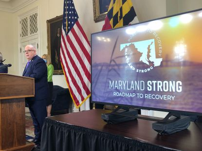 """Gov. Larry Hogan on Friday outlined a three-stage approach to gradually reopening businesses, services and gatherings, but cautioned that it's impossible to know when full-scale, pre-pandemic activities could resume. During a news conference at the State House in Annapolis, the Republican governor unveiled his """"Maryland Strong: Roadmap to Recovery."""""""