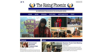 The Rising Phoenix, an online independent publication at the Homewood Center, is published by Homewood's students.