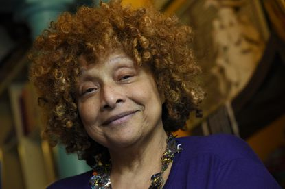 """""""I'm a true Baltimore babe and a Sandtown girl. I'm in a challenged neighborhood, but the people here are very supportive of me. How could I run away?""""Joyce J. Scott, Baltimore artist and 2016 MacArthur Fellow"""