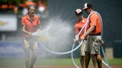 Orioles: Team groundskeeper Nicole Sherry, Eldersburg resident, earns award