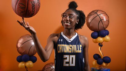 Jasmine Dickey, a four-time All-Metro selection headed to Delaware, averaged 20 points and 10.8 rebounds this season.