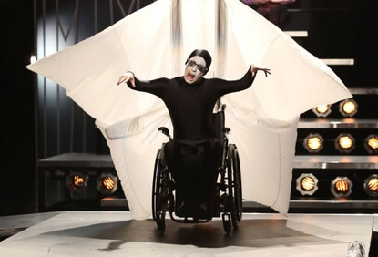 """Artie (Kevin McHale) performs on """"Glee."""""""