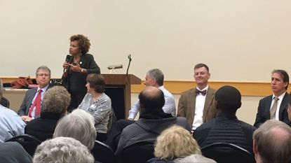 State Del. Terri Hill organized a public forum Nov. 27 with Howard County General Hospital leaders to address communication between primary care physicians and hospital based doctors, known as hospitalists.