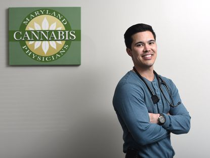 Dr. John Wah, M.D., is pictured at Maryland Cannabis Physicians in Westminster Tuesday, April 11, 2017