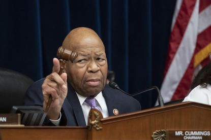 """In this Tuesday, April 2, 2109 file photo, House Oversight and Reform Committee Chair Elijah Cummings, D-Md., leads a meeting to call for subpoenas after a career official in the White House security office says dozens of people in President Donald Trump's administration were granted security clearances despite """"disqualifying issues"""" in their backgrounds. On Saturday, Trump denigrated Cummings' congressional district as a """"disgusting, rat and rodent infested mess,"""" broadening a campaign against prominent critics of his administration that has exacerbated racial tensions. Trump lashed out in tweets against the powerful House oversight committee chairman, claiming his Baltimore-area district is """"considered the worst run and most dangerous anywhere in the United States."""""""