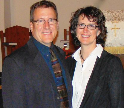 The Rev. Steven Badorf, recently installed as new pastor at Kirkridge Associate Reformed Church in Manchester, is shown with his wife, Elizabeth Badorf.