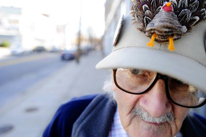If Jack Barr was still alive this Thanksgiving, he likely would have worn this hat with a nose in the shape of a turkey, as he did for this photo from 2010.