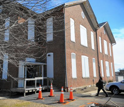 The former Bel Air Academy building on Gordon Street in Bel Air was sold for $101, 000 at auction Thursday afternoon to John Zoulis, President of Zoulis Properties Inc. in Linthicum.
