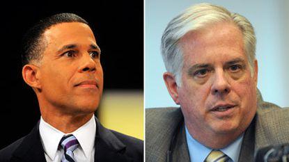 Democrat Anthony G. Brown and Republican Larry Hogan