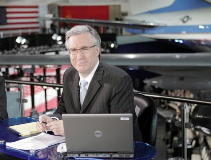 Keith Olbermann, seen here during the 2008 campaign, debuted his new show on Current TV on Monday.