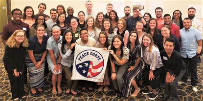 Peace Corps volunteers at the U.S. Embassy in Guyana, 2018.