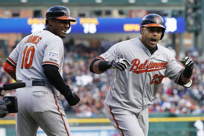 Current free agent Nelson Cruz, right, and Orioles center fielder Adam Jones both received votes in American League Most Valuable Player voting.