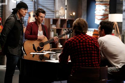 """Manny Cabo (left) and Keith Semple on """"The Voice."""""""