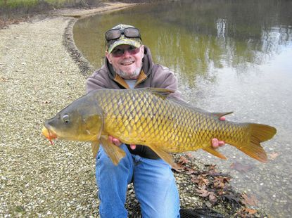 "Despite some good-natured ribbing from the ""Carp Whisperer,"" I was able to subdue this heavyweight recently at Marburg Lake. Bigger fish roam, and can be caught in the winter."