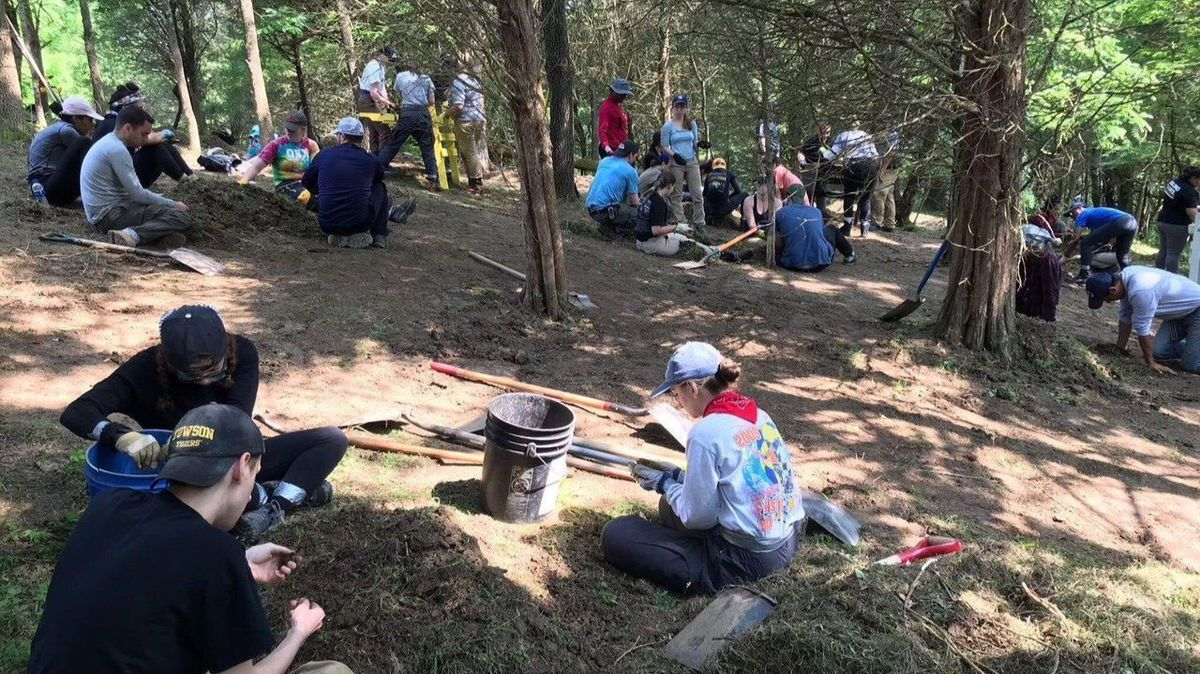 Towson University forensic science students search Kentucky park for