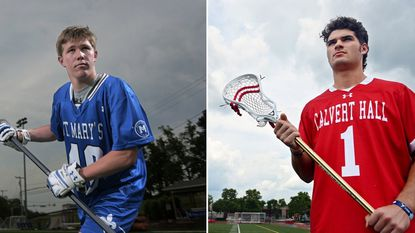St. Mary's senior defender BJ Burlace, left, and Cole Herbert junior midfielder Cole Herbert are the 2019 All-Metro boys lacrosse Co-Players of the Year.