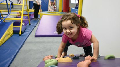 Ivanka Milano, 3, of Aberdeen plays at Harford Gymnastics Club in Joppa, which offer a venue for children's birthday parties in Harford County.