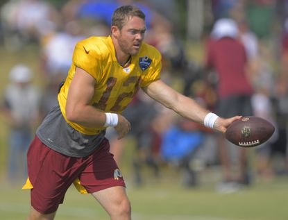 Colt McCoy, who hasn't played since breaking his leg last season, will start at quarterback for the Redskins against the Patriots on Sunday.