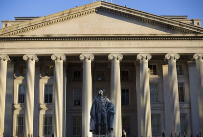 Maryland businesses received more than $10 billion in loans from the federal Paycheck Protection Program, according to data the U.S. Small Business Administration and Treasury Department released Monday. This 2017 photo shows Treasury Department building in Washington.