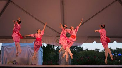 The Misako Ballet Company performs during the closing ceremonies of Columbia's 50th Birthday Celebration.