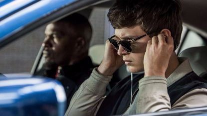 "Ansel Elgort, right, and Jamie Foxx in ""Baby Driver,"" the best movie of 2017, according to John Waters."