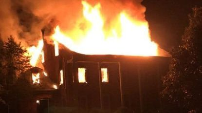 Fire destroys Mount Airy home, as steep driveway presents challenge for firefighters