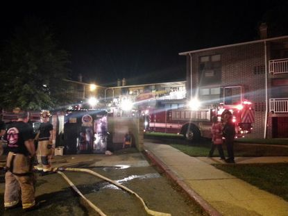 At 2:48 am, Annapolis Fire Department units were dispatched for a reported apartment fire in the 1200 block of Madison Street in Eastport.