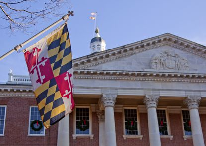 The Maryland State House in Annapolis where Gov. Larry Hogan has proposed a nonpartisan commission to redraw congressional district boundaries. (File/Tribune Content Agency).