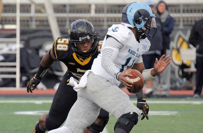 With opening at outside linebacker for Towson, Eric Handy making move from inside linebacker