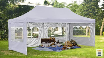 Outdoor party tents can be used for small get-togethers, weddings, celebratory events, vendor events or even potlucks.