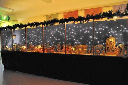 Epiphany Lutheran Church's nativity scene displays more than 100 figures and buildings.