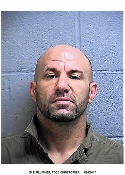 """Todd Christopher Plummer was arrested Jan. 26after he allegedly pushed a woman to the floor, causing her to strike her head. <a href=""""http://www.carrollcountytimes.com/news/crime/ph-cc-plummer-todd-christopher-assault-20170127-story.html"""" target=""""_blank"""">Full story here</a>."""