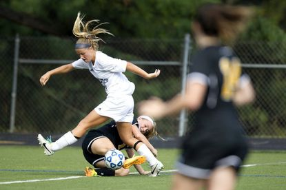 Catonsville High senior striker Renee Gast, top left, and the Comets routed Kenwood in a 6-1 victory Tuesday in a Class 4A second-round playoff game.