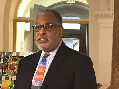 Baltimore City Solicitor Andre Davis will step down at the end of February. Davis is shown in this May 2, 2019, photo.