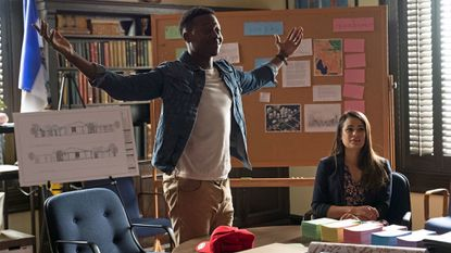 """Brandon Micheal Hall and Lea Michele in """"The Mayor."""""""