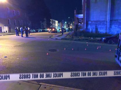 Multiple people were reportedly shot at West Lexington and North Payson streets in Baltimore on Saturday, Sept. 5, 2020.
