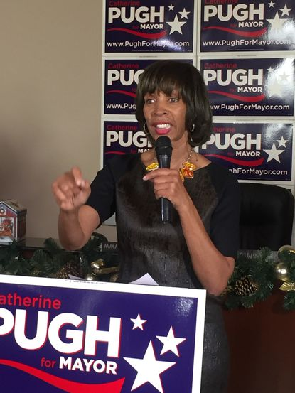 State Sen. Catherine E. Pugh formally kicked off her bid to run for Baltimore mayor on Saturday.