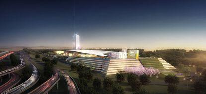 Beltway perspective - MGM National Harbor Reveals Design Vision for Proposed Prince George¿Äôs County Destination Resort.