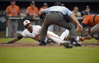 Paredes' rare steal of home on double steal gives Orioles much-needed momentum