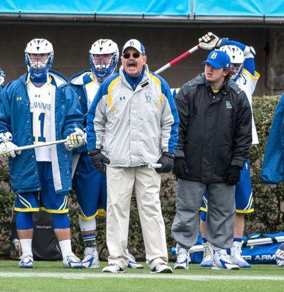 Delaware lacrosse coach Bob Shillinglaw, shown in 2015.