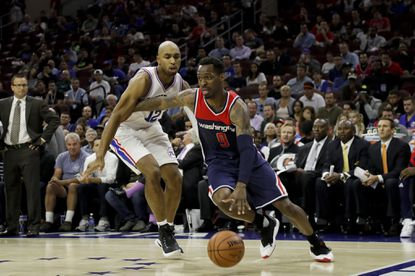 The Wizards' Sheldon McClellan scored 20 points in Washington's 125-119 win over the Sixers on Thursday night.